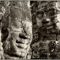 Stone faces on the Bayon temple, Siem Reap, Cambodia (2007)