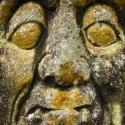 Mayan stone face, Copan ruins, Honduras (2010)
