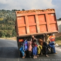 Catching a ride, Burundi (2006)