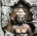 Khmer stone carving detail, Siem Reap, Cambodia (2007)